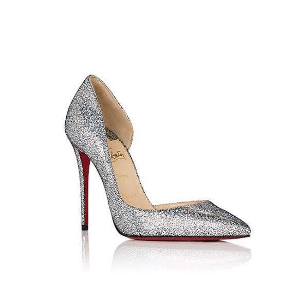 new concept ae624 4f235 Louboutin Silver Red Bottom Heels